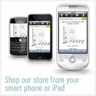 shop with a smart phone or ipad
